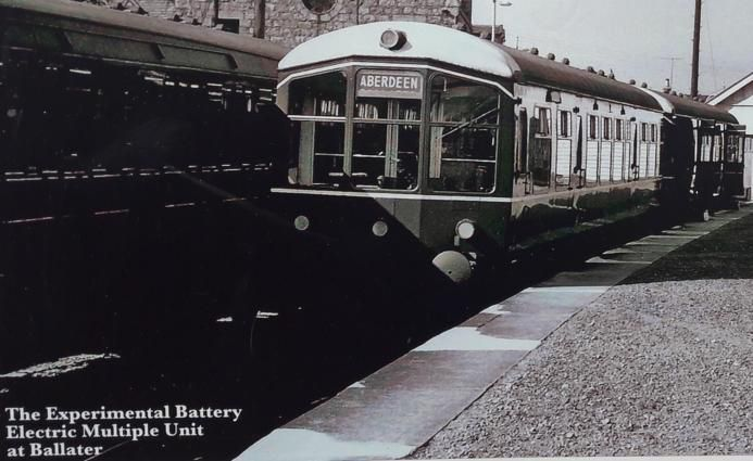 The Experimental Battery Electric Multiple Unit at Ballater